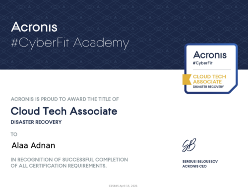 Acronis CyberSecurity and Disaster Recovery